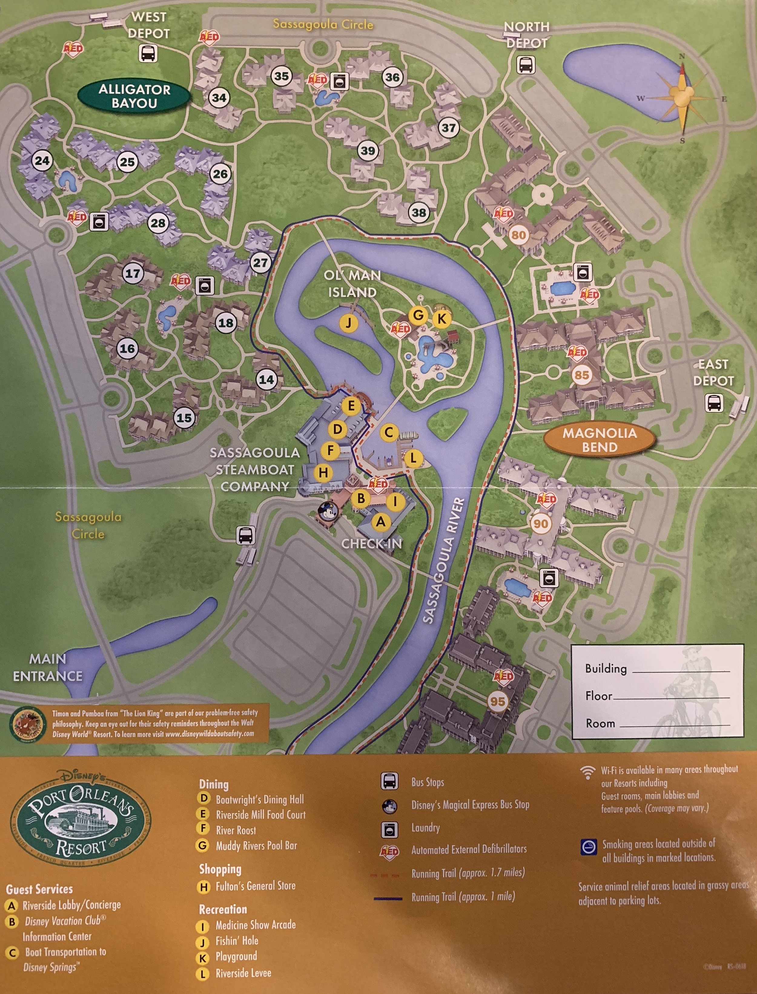 Review of Disney's Port Orleans Resort - Riverside - Mouse ... on disney rides, disney resorts and grounds, disney events, harry potter grounds map, carnival grounds map,