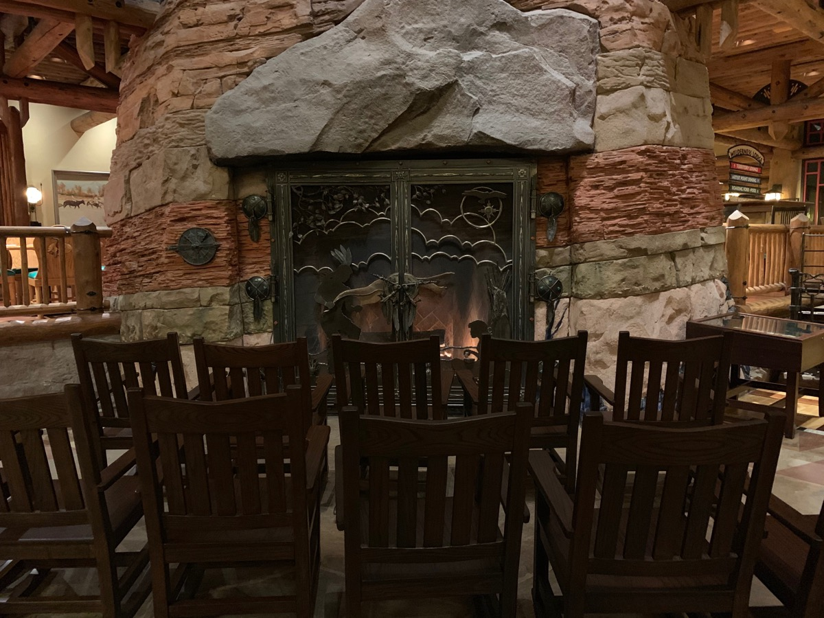 Non-lounge seating at Wilderness Lodge