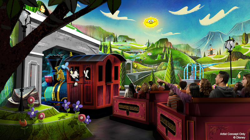 New Concept Art of Mickey & Minnie's Runaway Railway | Copyright Disney |  Our Fair Use Policy