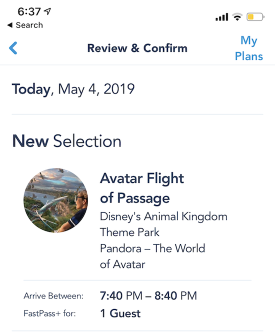 disney world trip report early summer 2019 day 1 19 fop fastpass.png