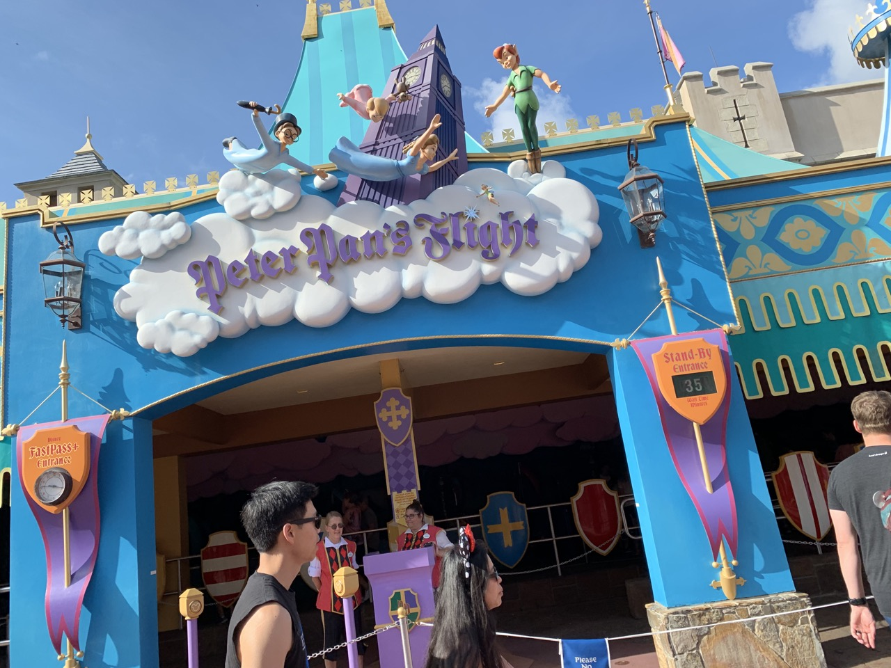 20 minutes into the day, Peter Pan at 35 minutes