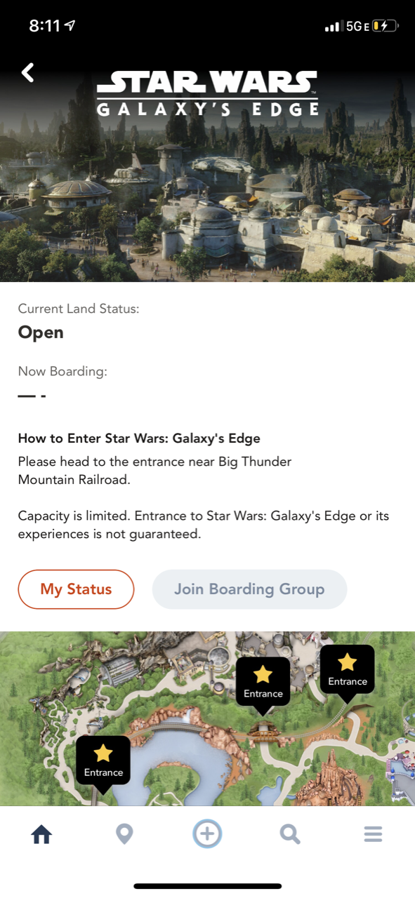 disneyland star wars land galaxy edge touring boarding pass 02.PNG