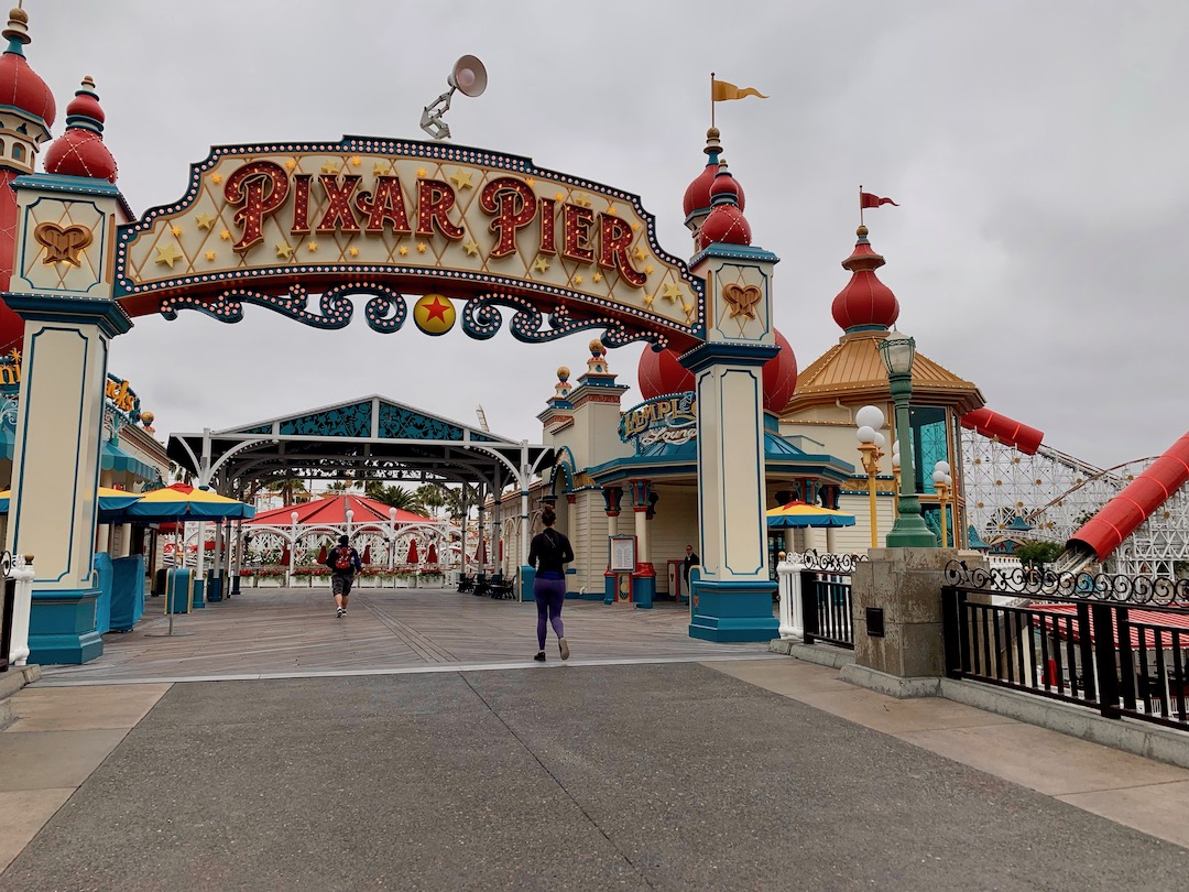 We were among the first to Pixar Pier, behind only a sprinting family, solo male park guest and solo female park guest.