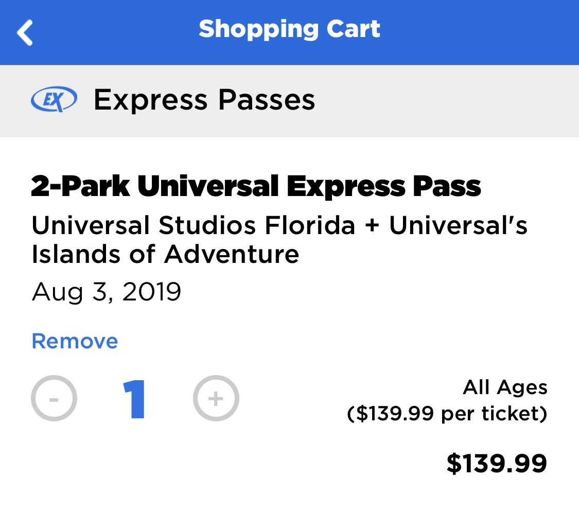universal orlando summer 2019 trip report part 4 express purchase.png