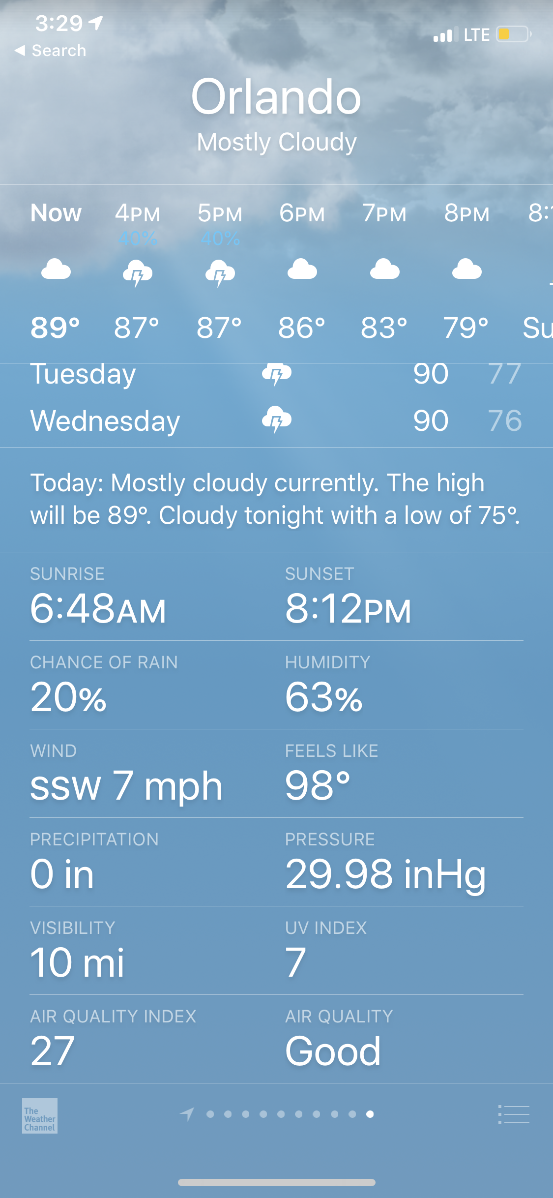 universal orlando summer 2019 trip report part 6 weather.png