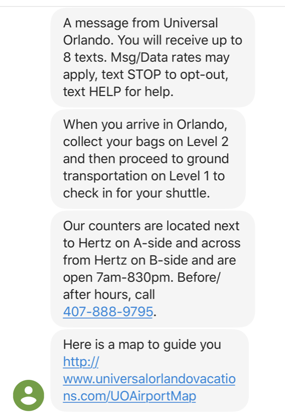 universal orlando mco superstar airport shuttle 01 text message.png