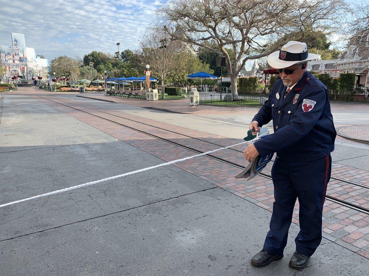 An actual rope at Disneyland