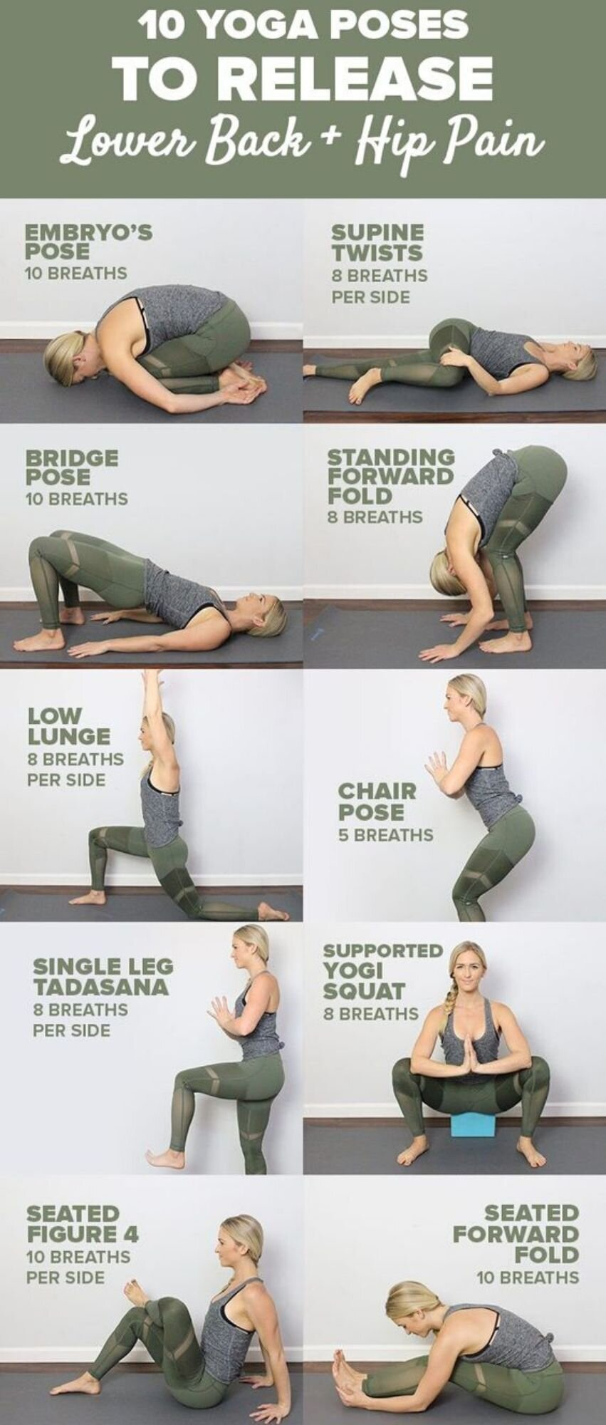 20 Yoga Poses to Release Lower Back and Hip Pain — Bluestar ...