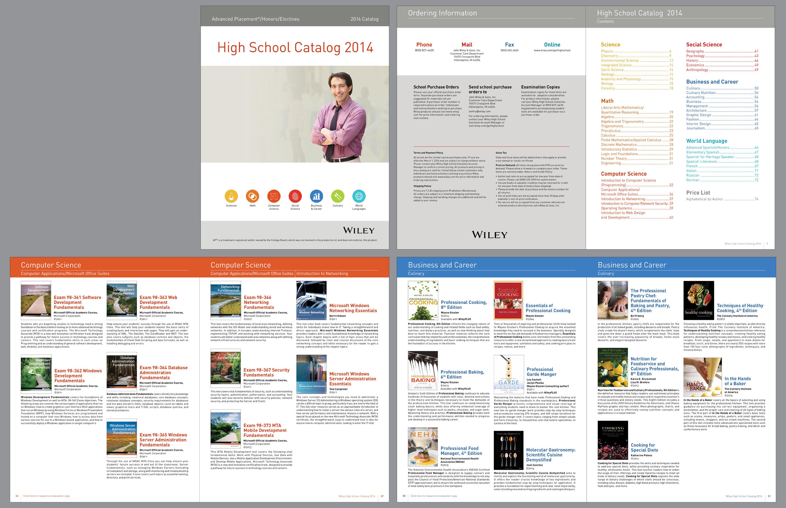 Excerpt from a catalog showing textbooks used in advanced placement high school programs. Targeted to High school book buyers.