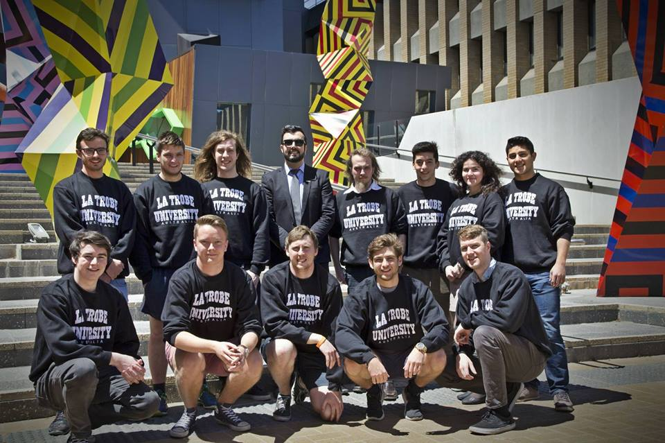 Top row: Beau Anasson, Ryan Green, Ben Anderson, Eddie Custovic, Matthew Felicetti, Thomas Gauci, Teodora Raducan & Ahmad Ahuonbar  Bottom row: Jordan Gleeson, Karl Lonn, Ben Adlam, Chris Sawyer, John Hodder
