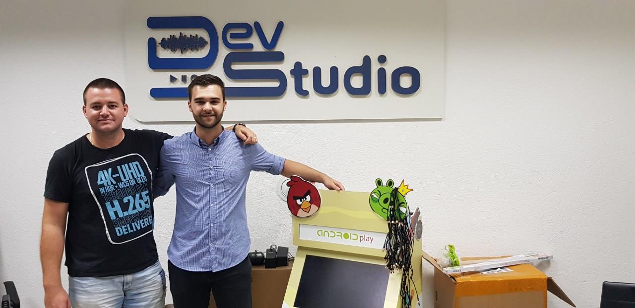 With Nemanja Vujnovic in Dev Studio