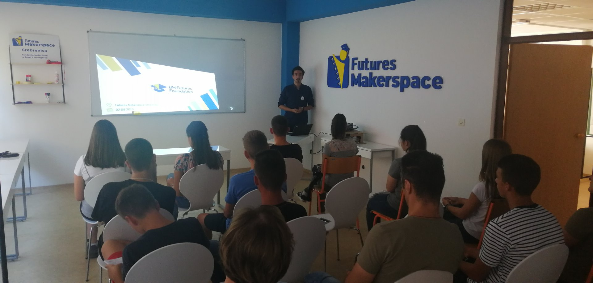 The work paid of, Full house at Futures Makerspace Info Presentation