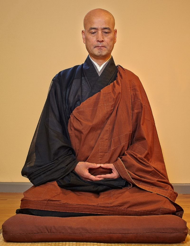 My current teacher, Shohaku Okumura Roshi, sitting zazen.
