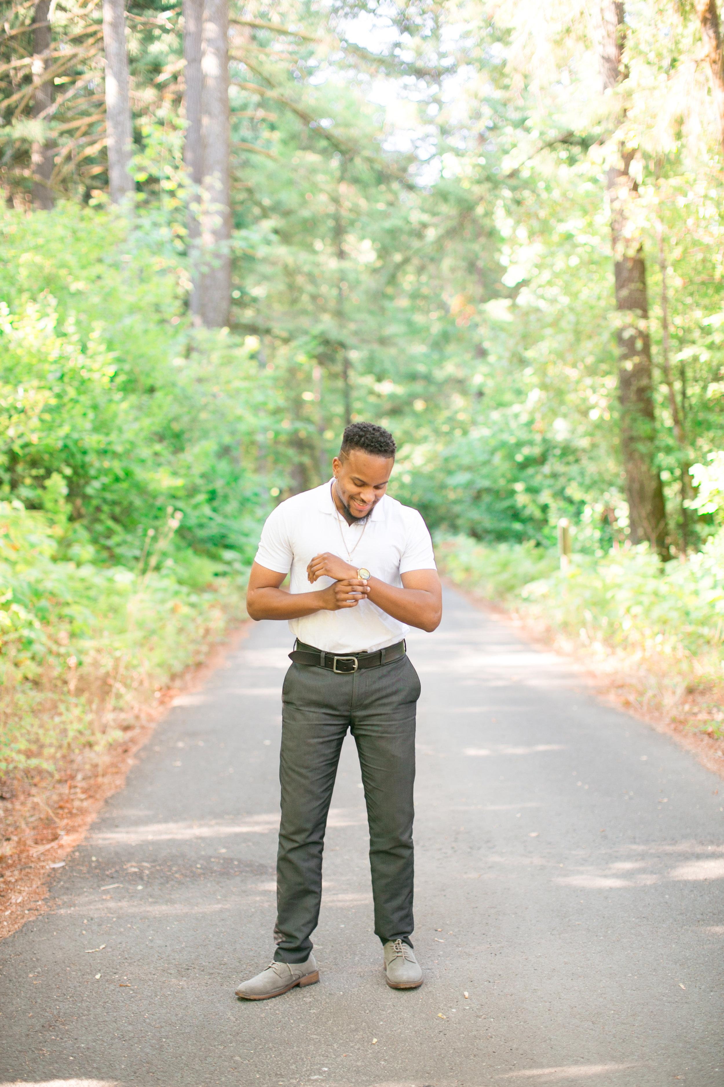 portland portrait headshots, black male model