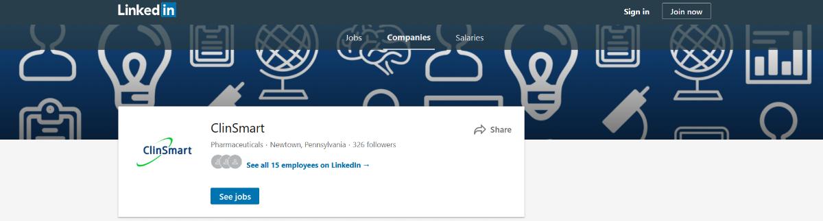ClinSmart's custom LinkedIn banner