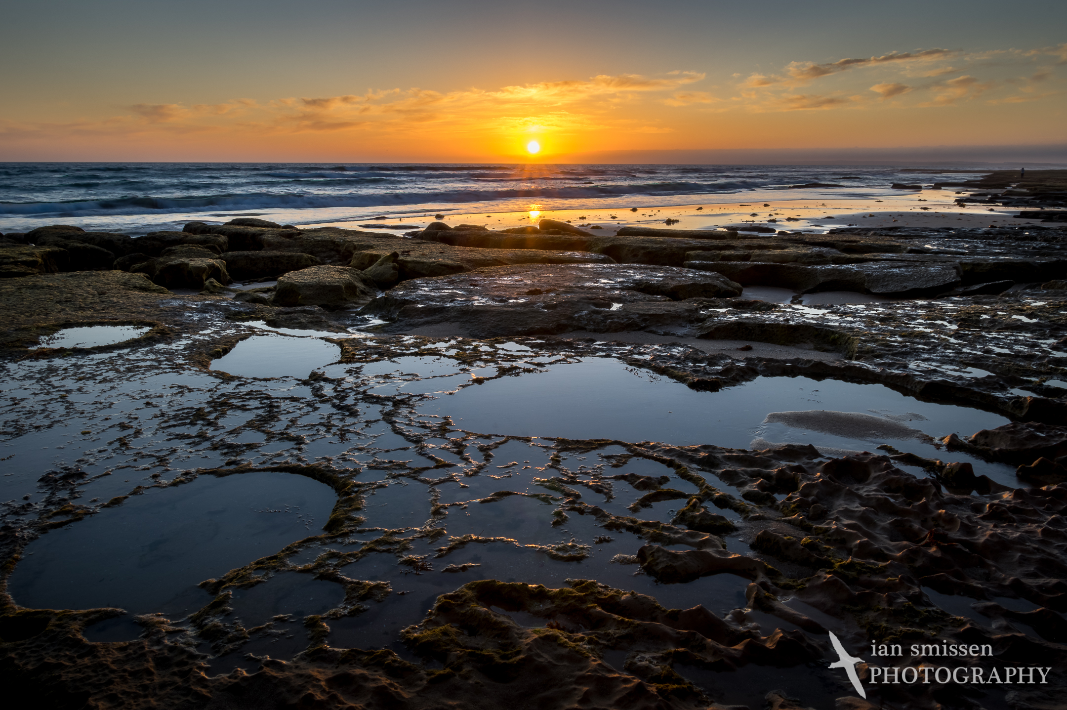 Sunset low tide at The Bluff