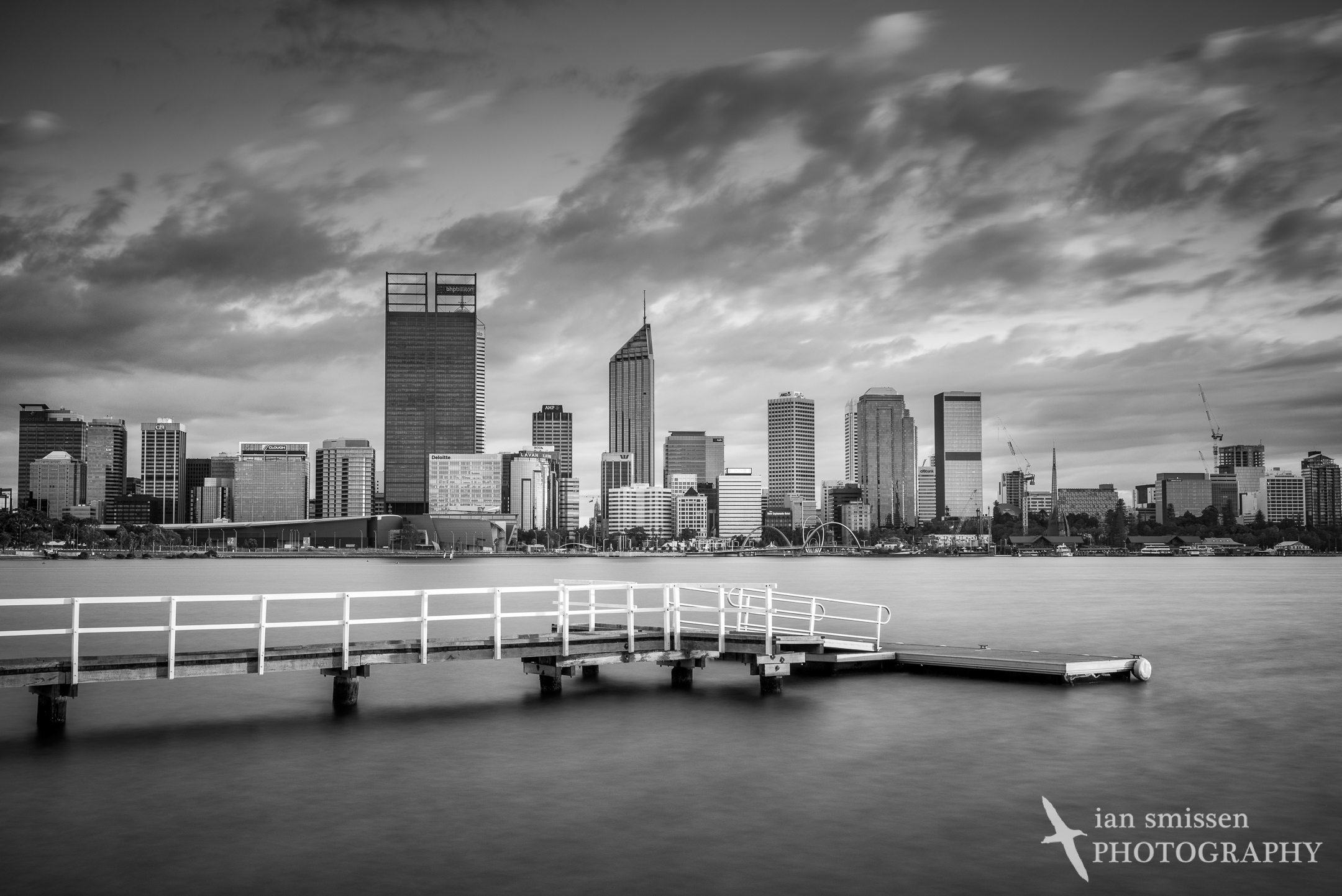 Perth skyline from South Perth, early morning
