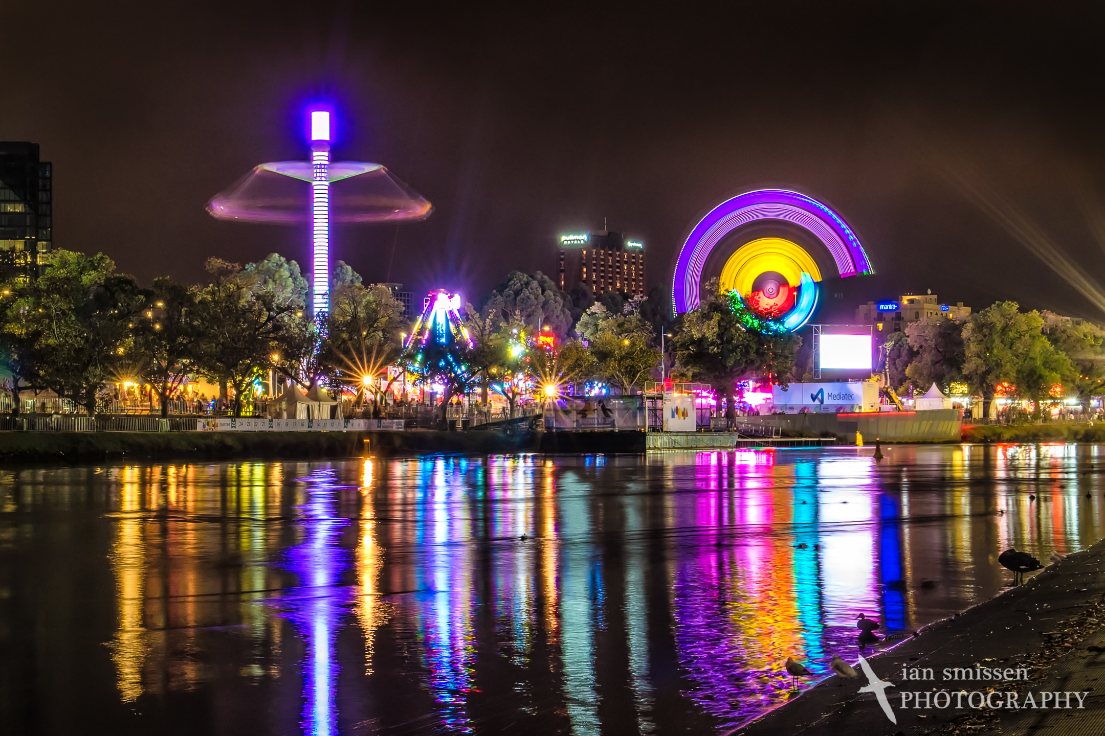 Yarra River at night during Moomba Festival