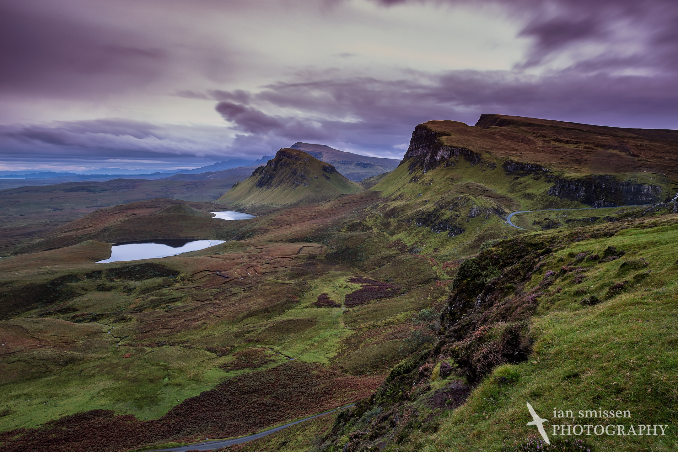 Early morning view south from The Quiraing