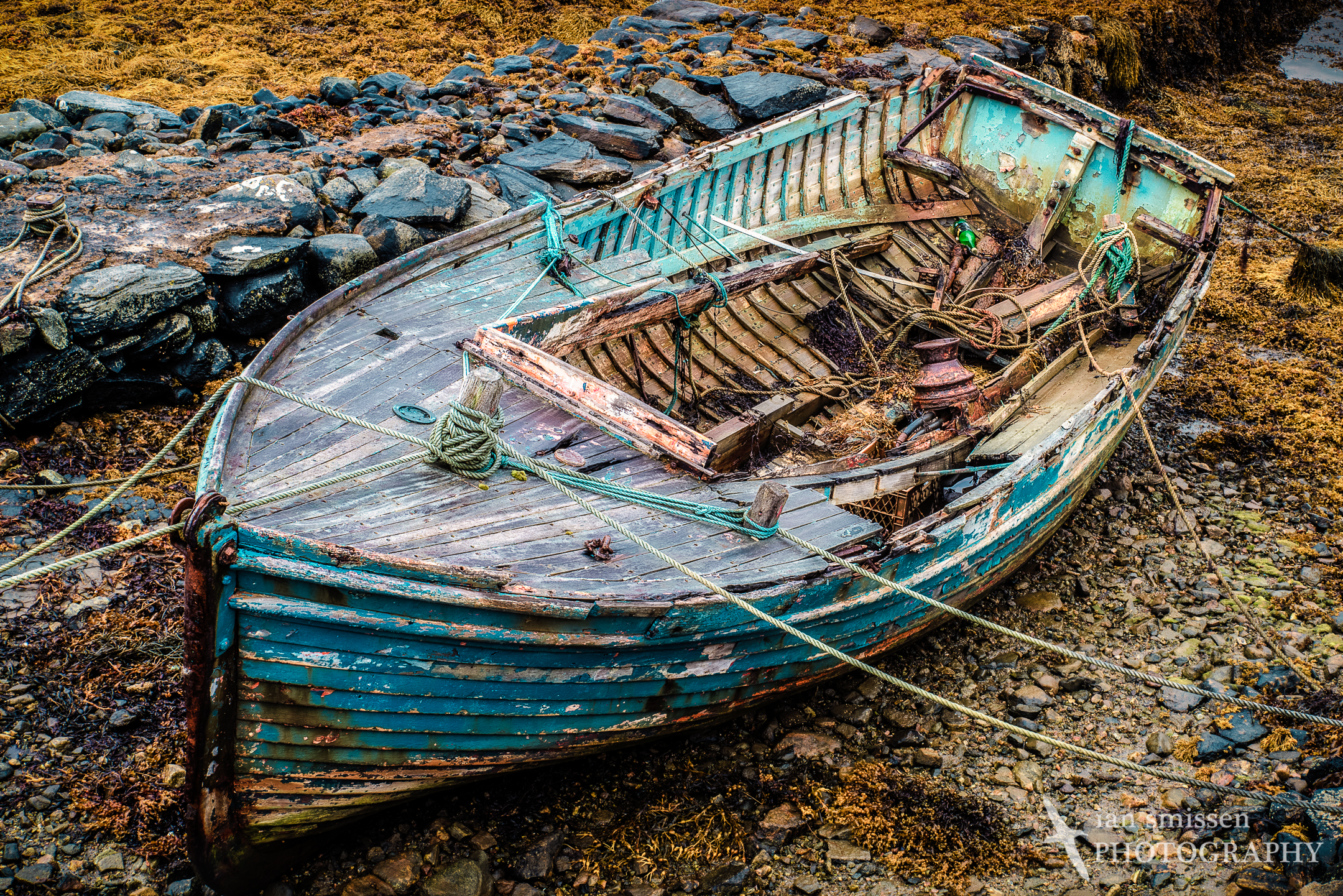 Old boat at Bay of Miavaig