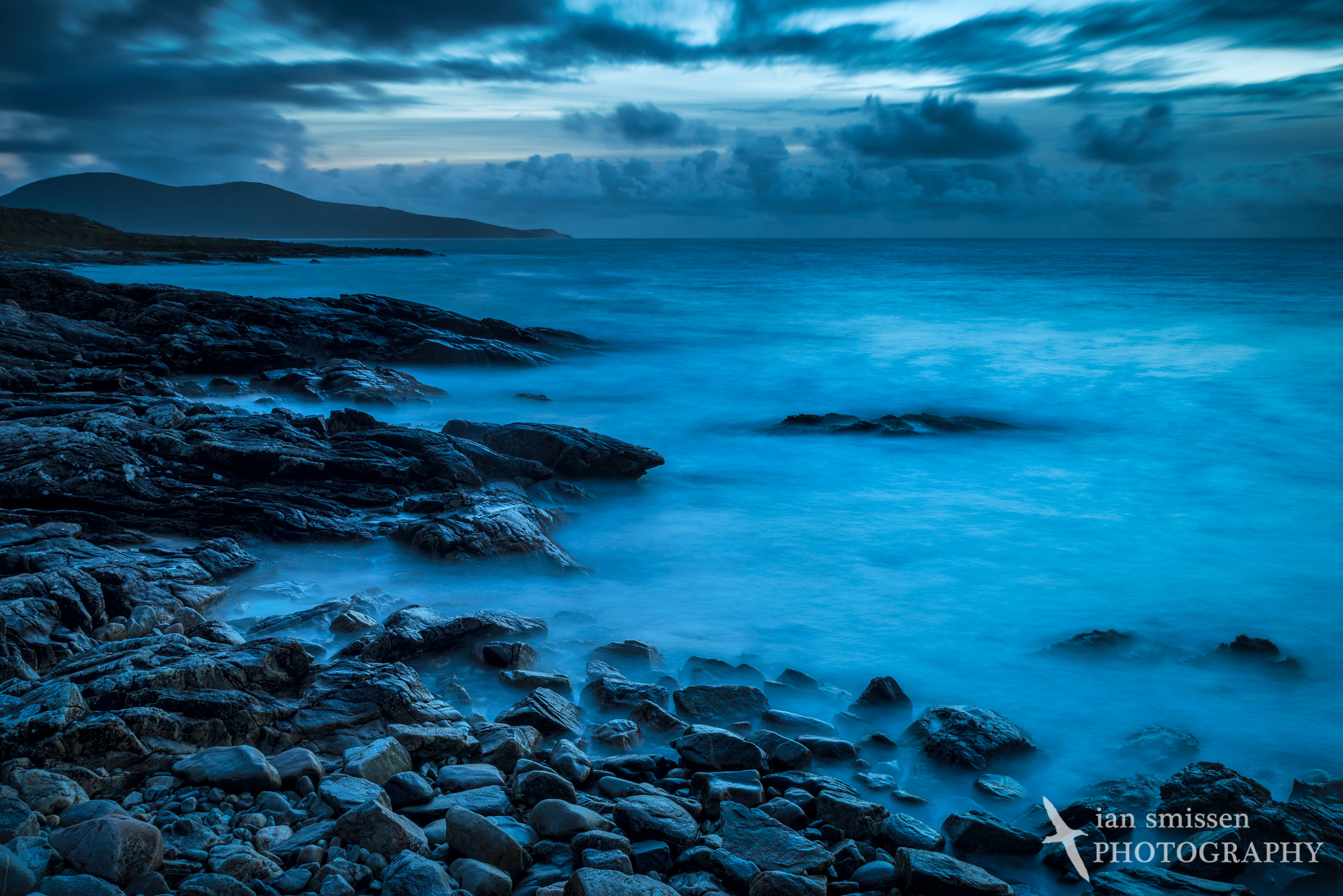 Blue hour at Horgabost Beach