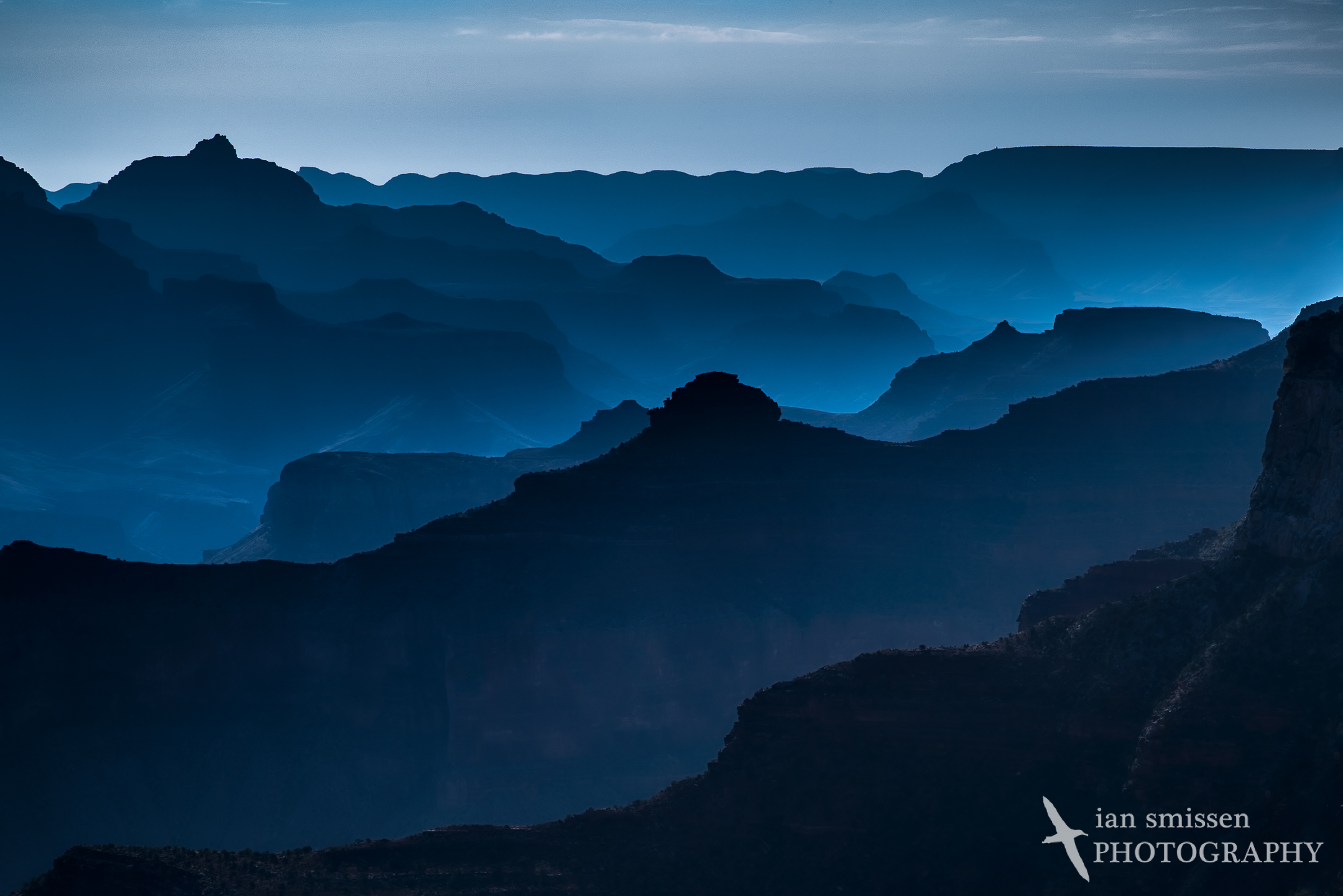 Early morning mist, Maricopa Point, Grand Canyon