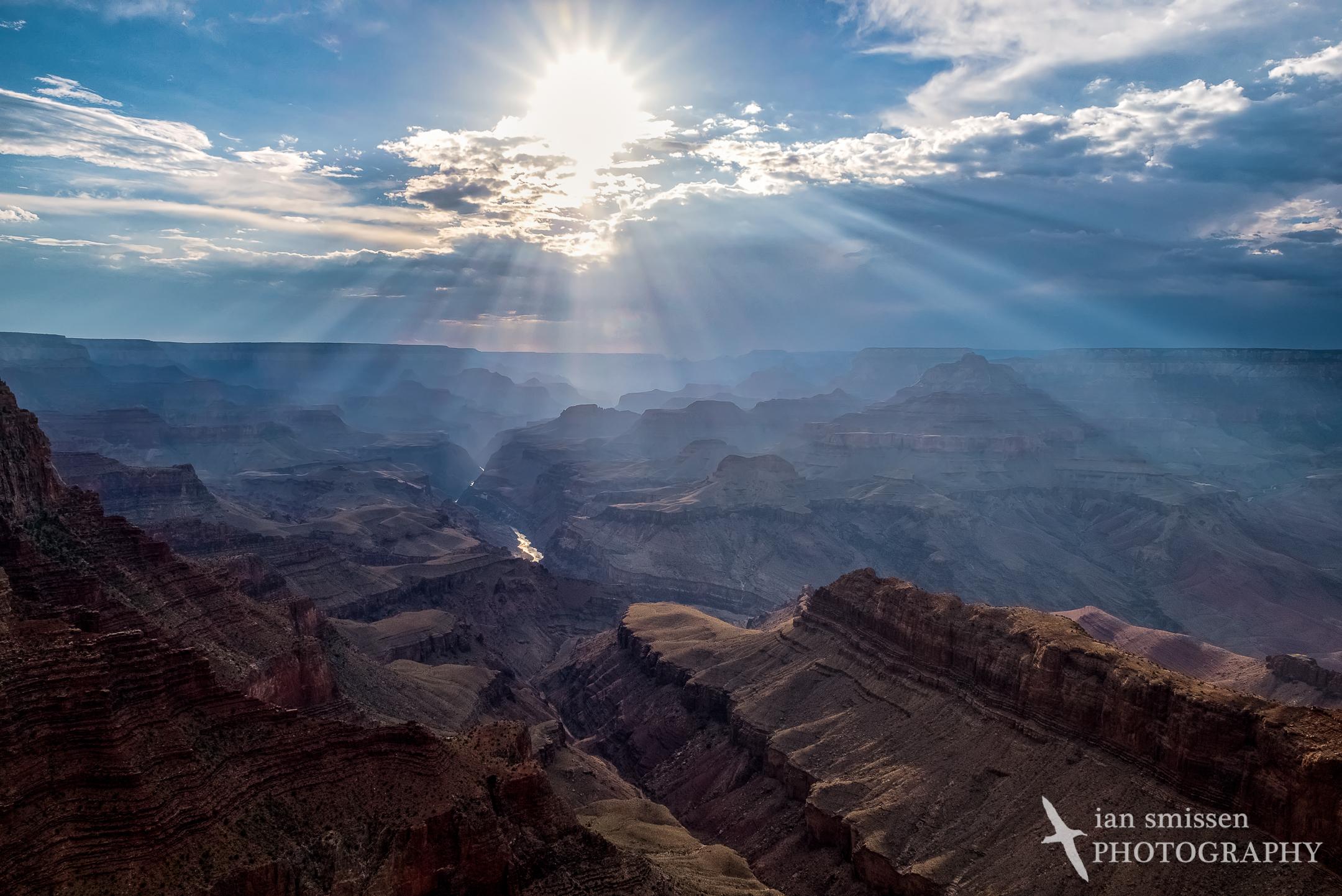Setting sun at Lipan Point, Grand Canyon