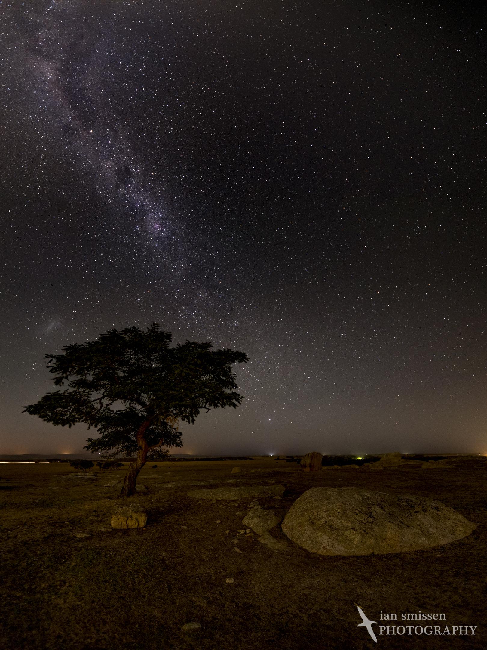 Milky Way over Dog Rocks