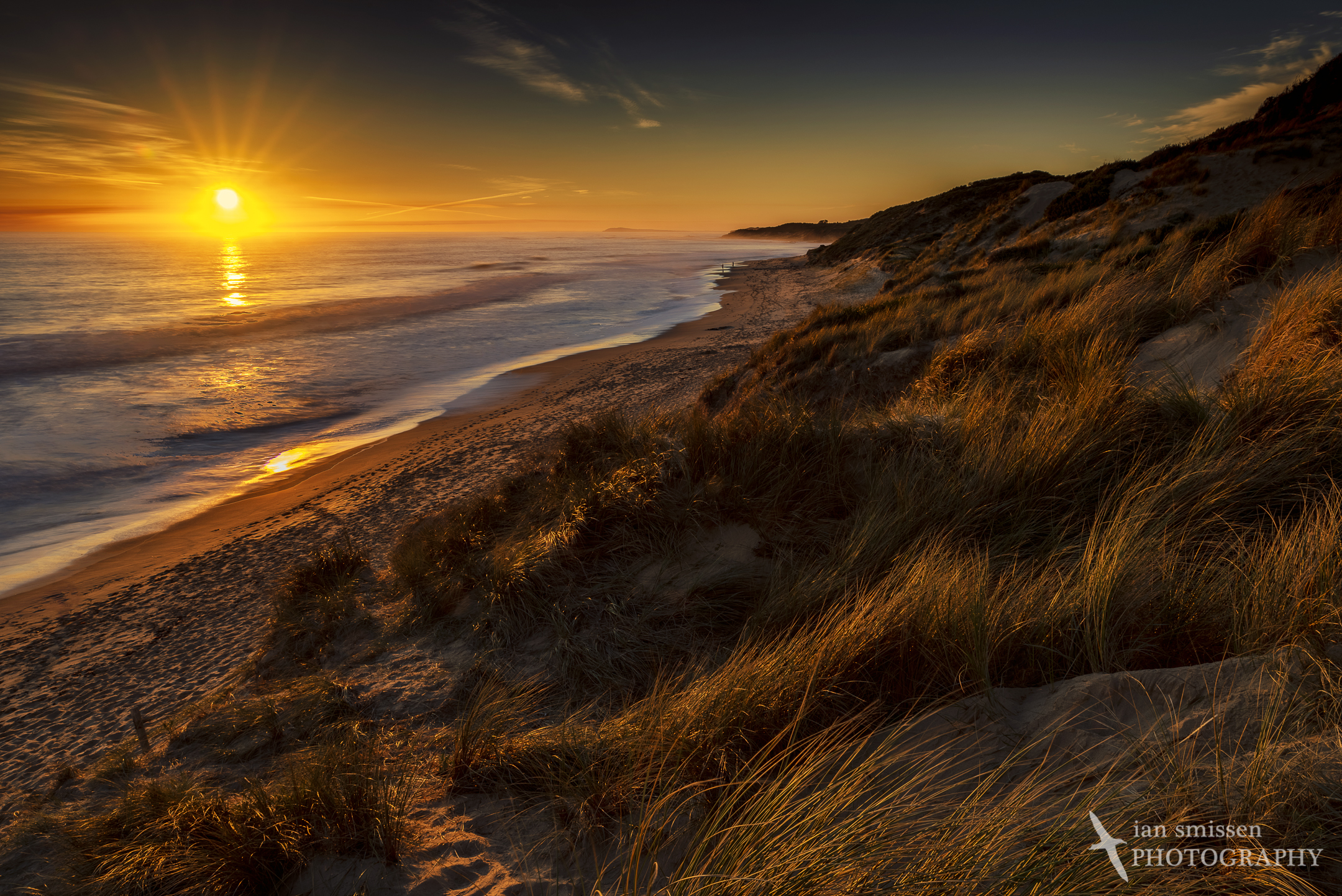 Sunset from the Cape Patterson Dunes