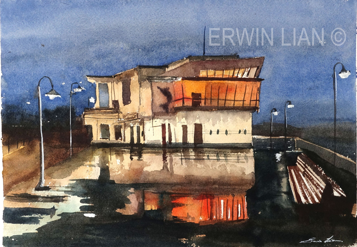 Fisherman's Wharf 33 x 23 cm, Transparent Watercolor