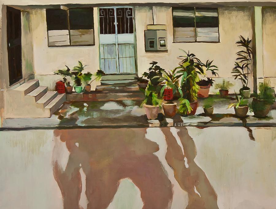 Title: Gardens by my Hood   | Acrylic on illustration board | 31 cm X 25cm