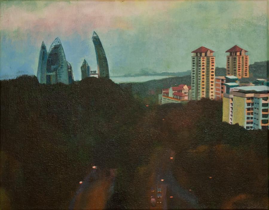 Title: The Separation   | Acrylic on Canvas | 35.4 cm x 27.5 cm }