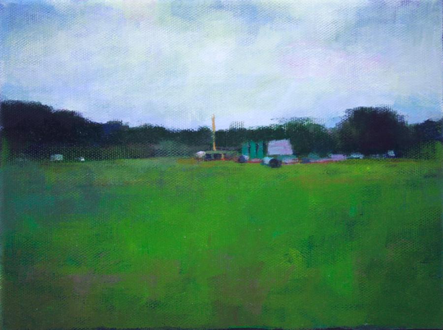 Title: Goodbye empty land  | Acrylic on Canvas | 22.5 cm x 17.5 cm}