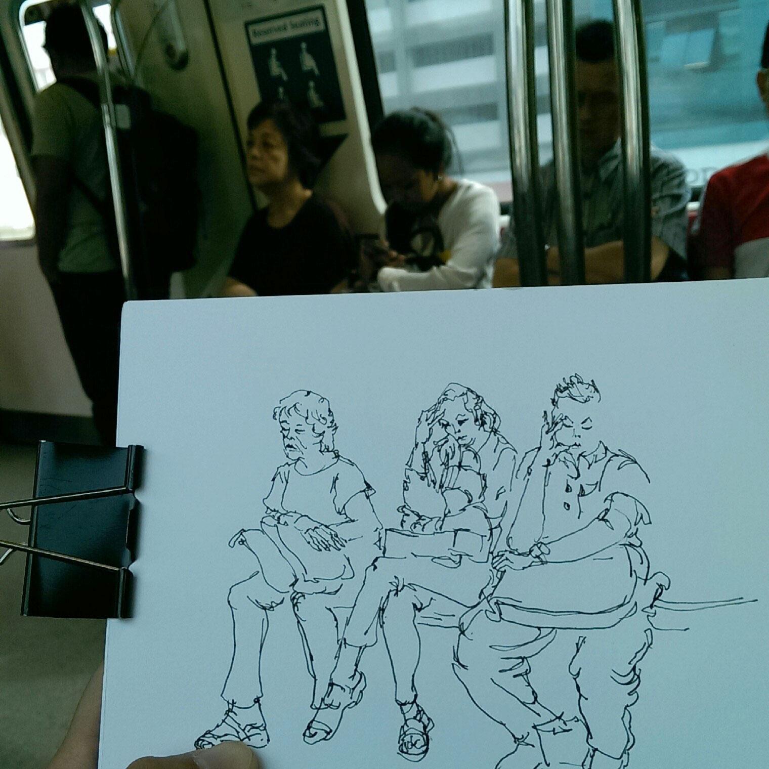 Singaporean commuters