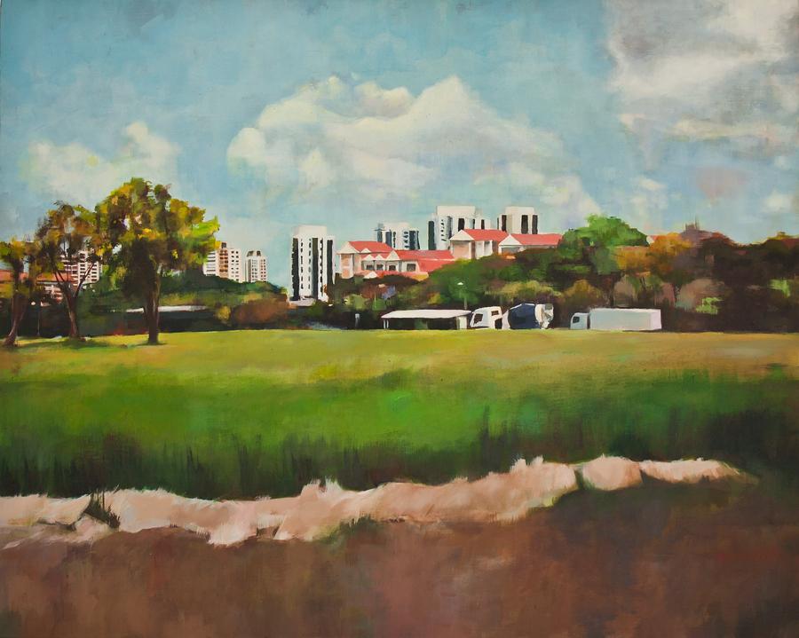 Title: Bukit Batok West Ave 8  | Acrylic on Canvas | 76 cm X 60 cm