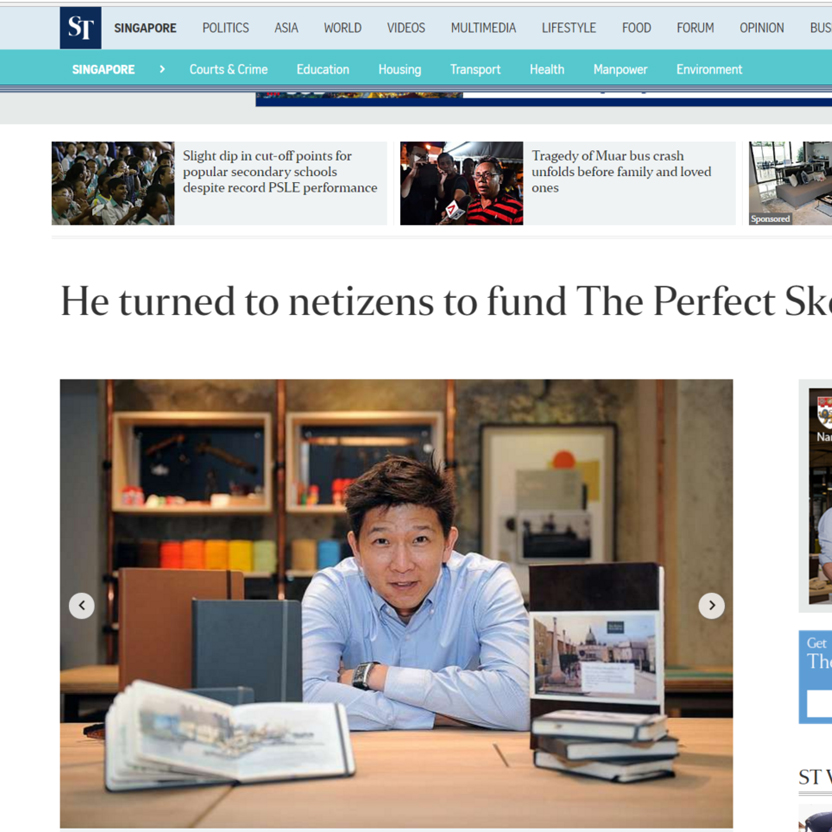 The Perfect Sketchbook B5 on The Straits Times