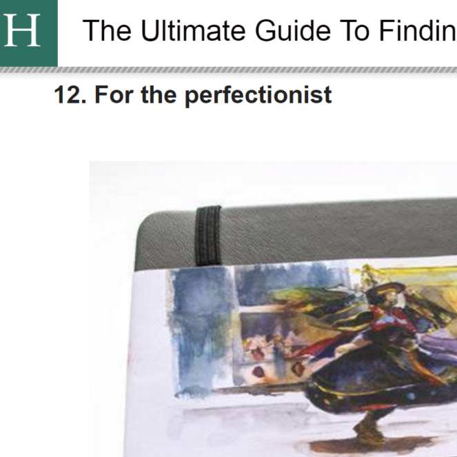 The Perfect Sketchbook on Huffington Post