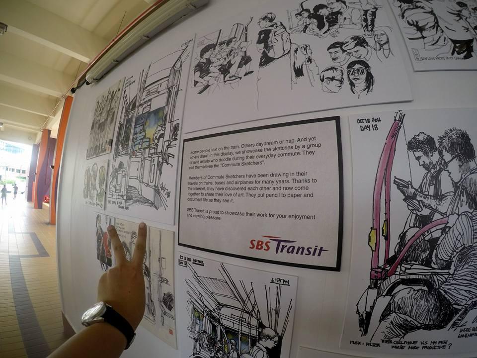 Commute Sketchers at Bishan Bus Interchange