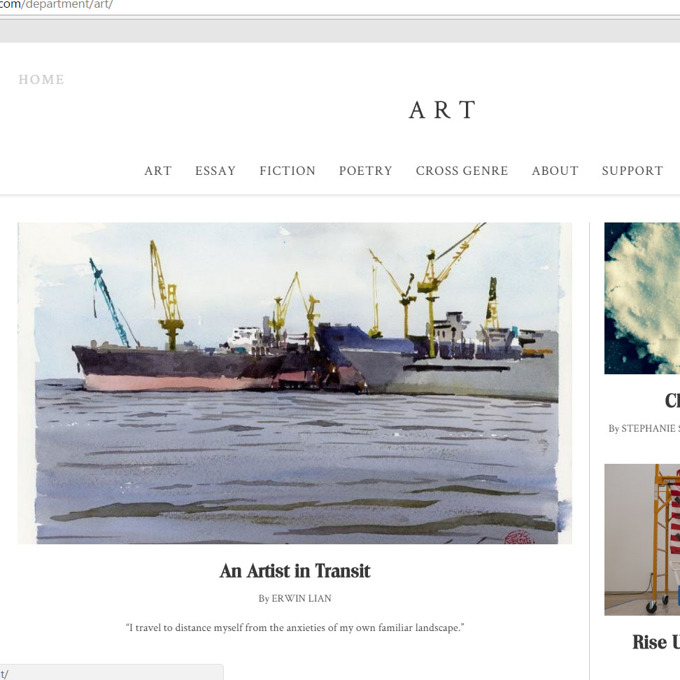 An Artist in Transit - Featured on The  offing magazine