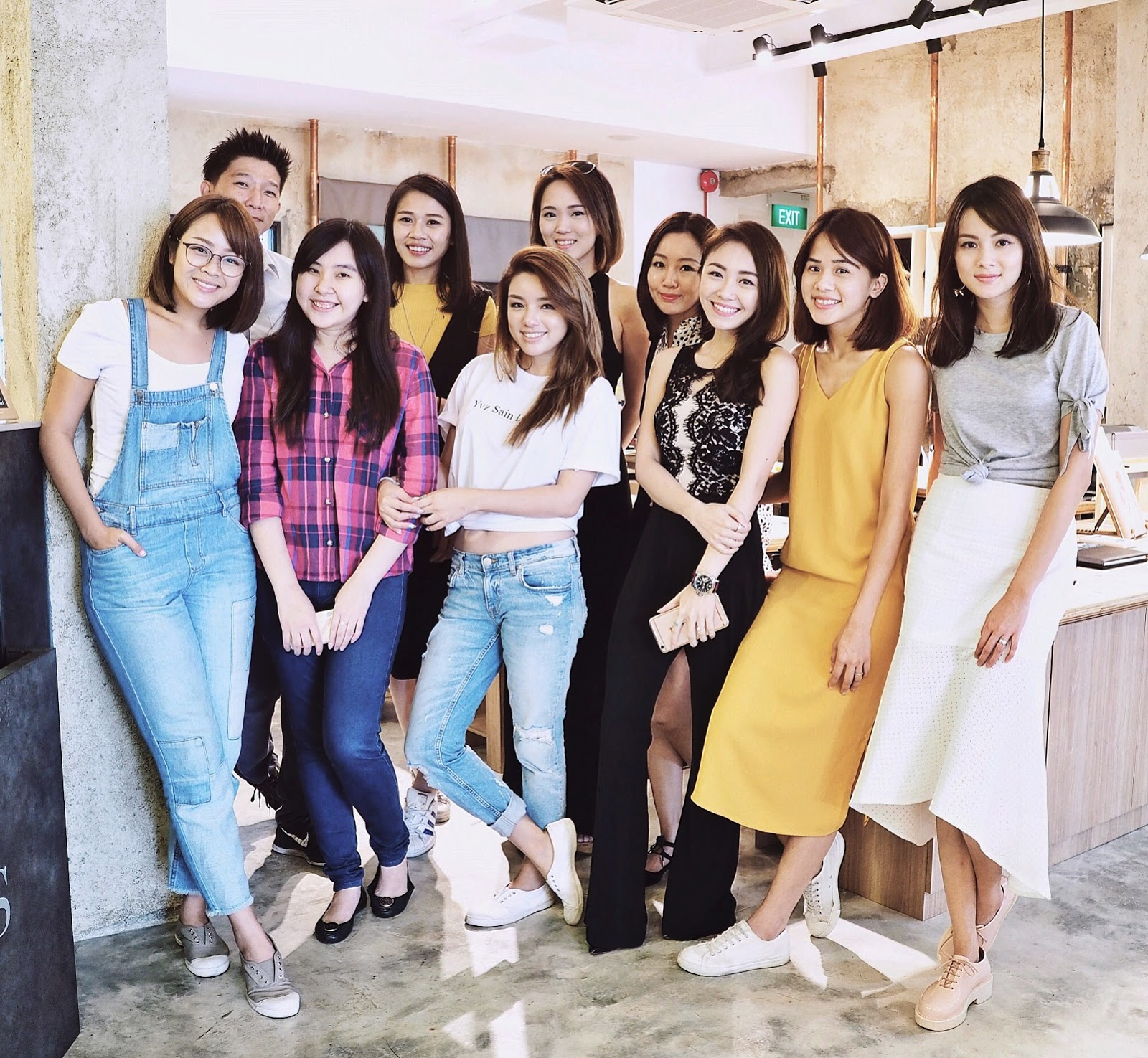 Celebrity Bloggers and their friends: Yina, Evonne, Tricia, Min, Reenie, Jess, Ying and Jeneen