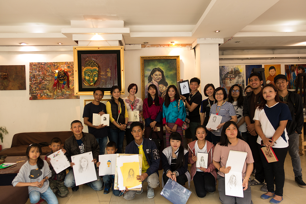 Another successful run of portrait drawing at VAST Bhutan