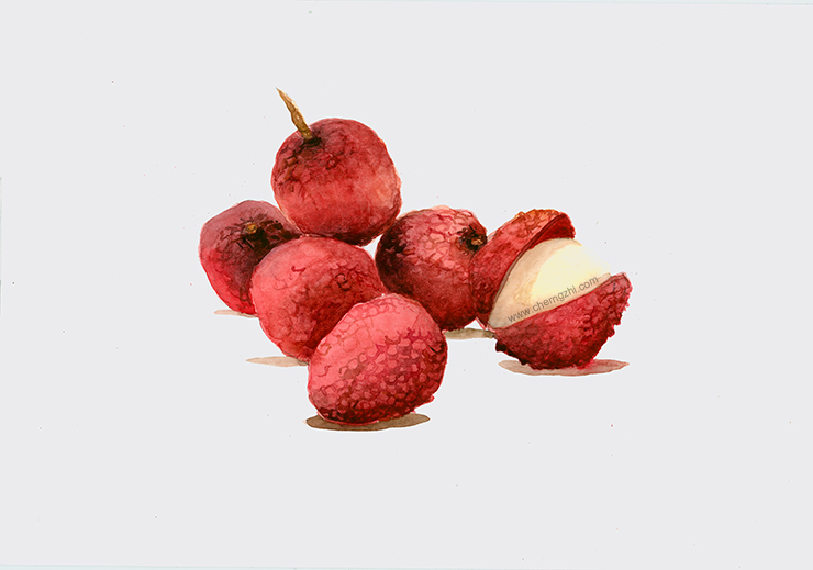 Lychee has an oriental origin. The fruit has no cholesterol and is low in sodium. It is very good source of vitamin C.