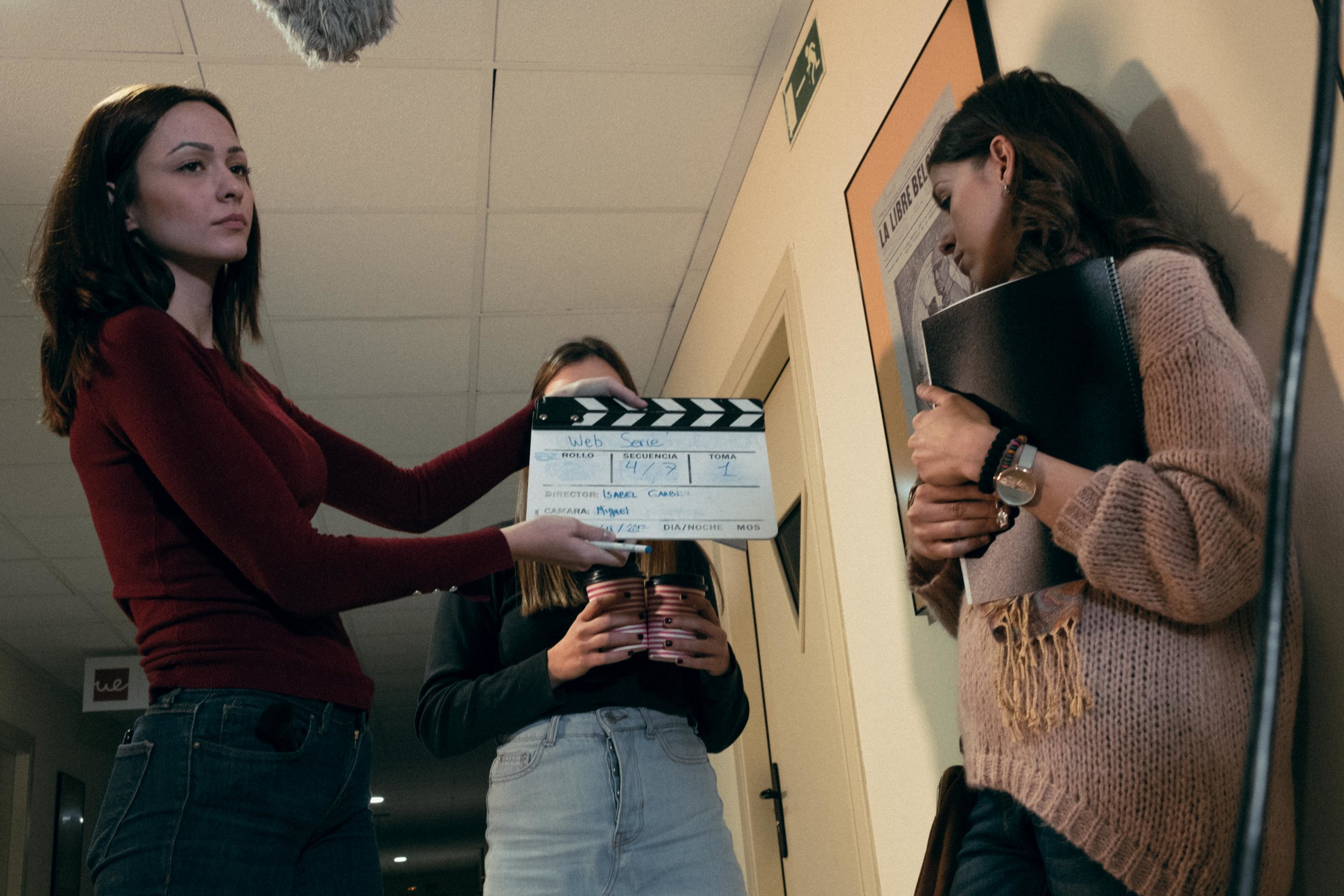 Unit still of the Web Serie shot at the University European in Madrid. Nov 11, 2017. ©JESUS HELLIN