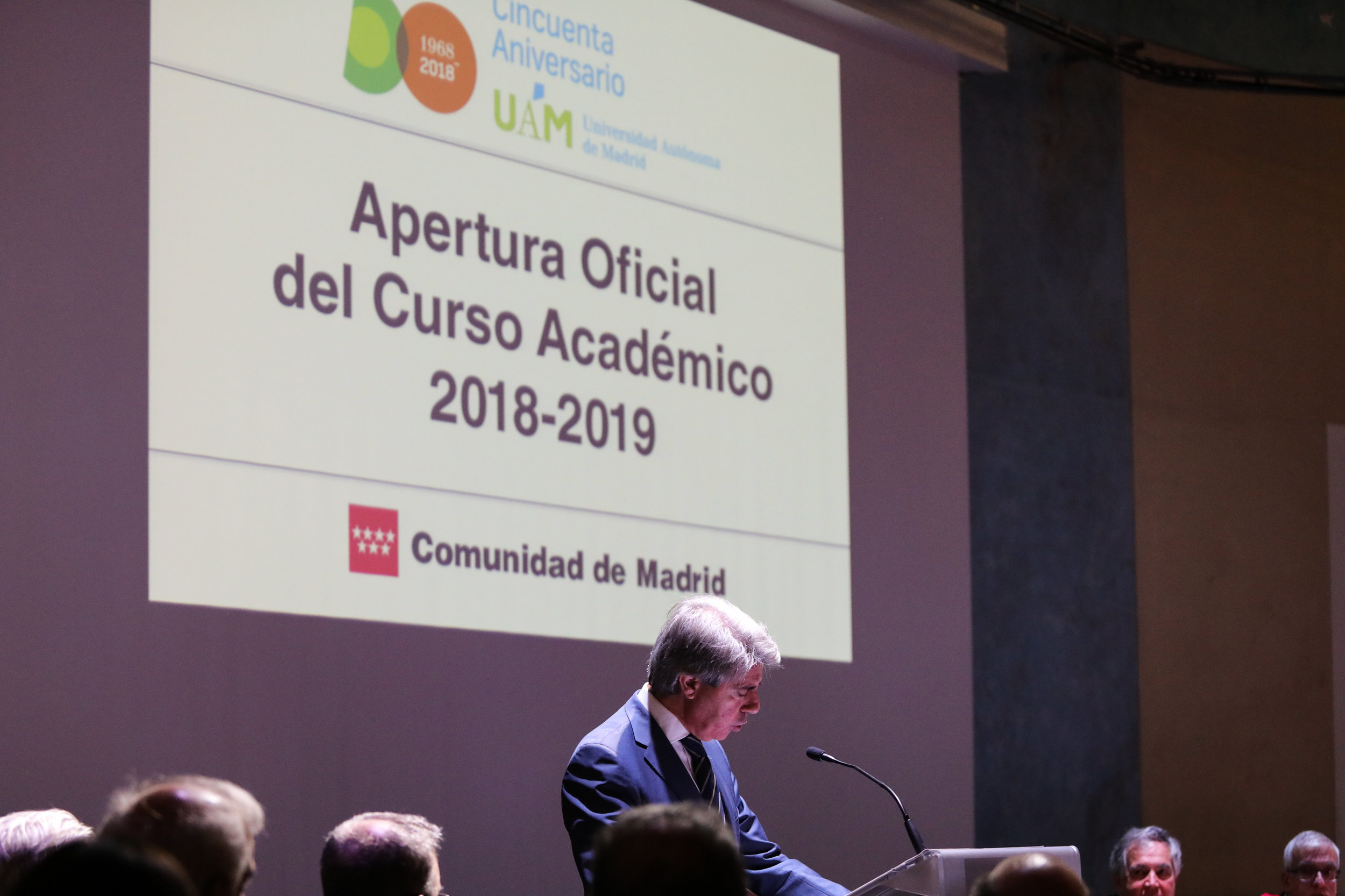 GARRIDO PRESIDES THE ACADEMIC ACT OF OPENING THE UNIVERSITY COURSE