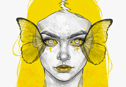 Yellow Series - Minimal and bold illustrations in a limited color palette.