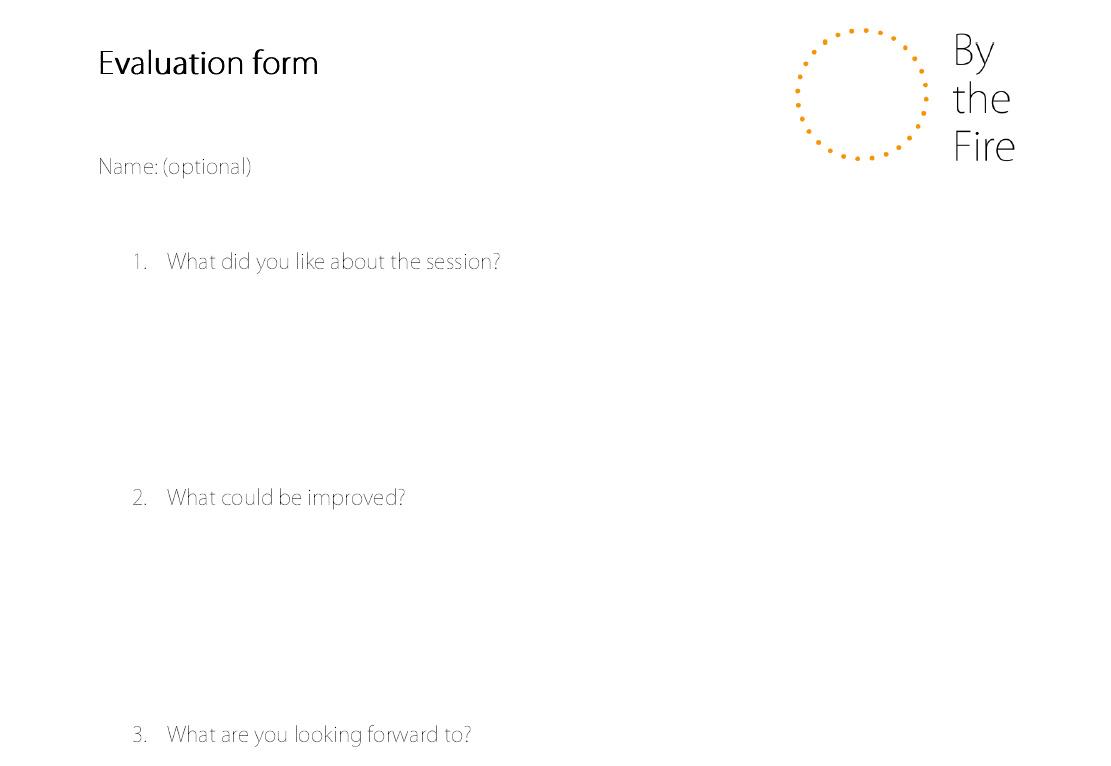Evaluation form 1 (Sept)