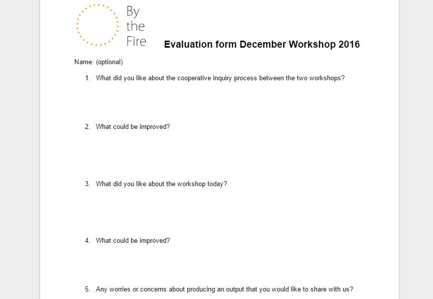 Evaluation form December