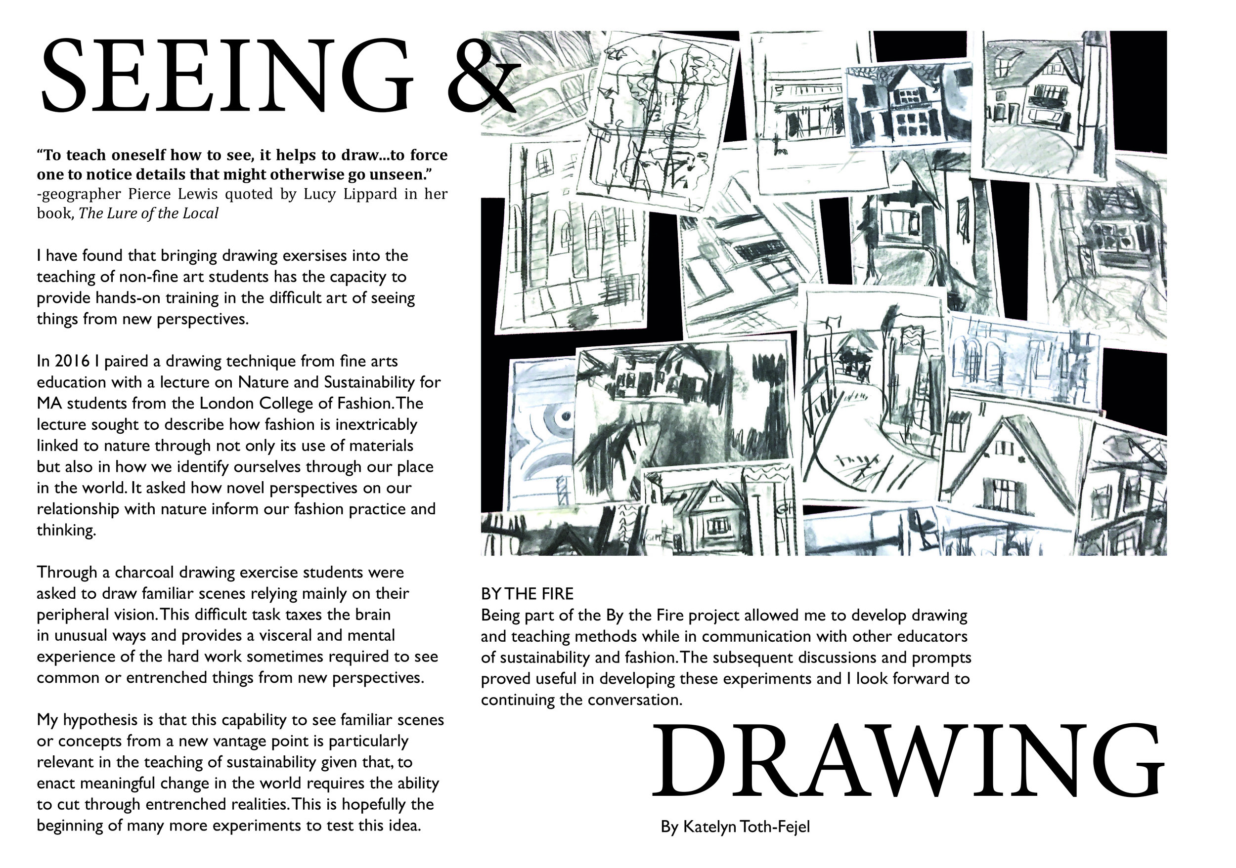 Seeing and Drawing by Katelyn Toth-Fejal