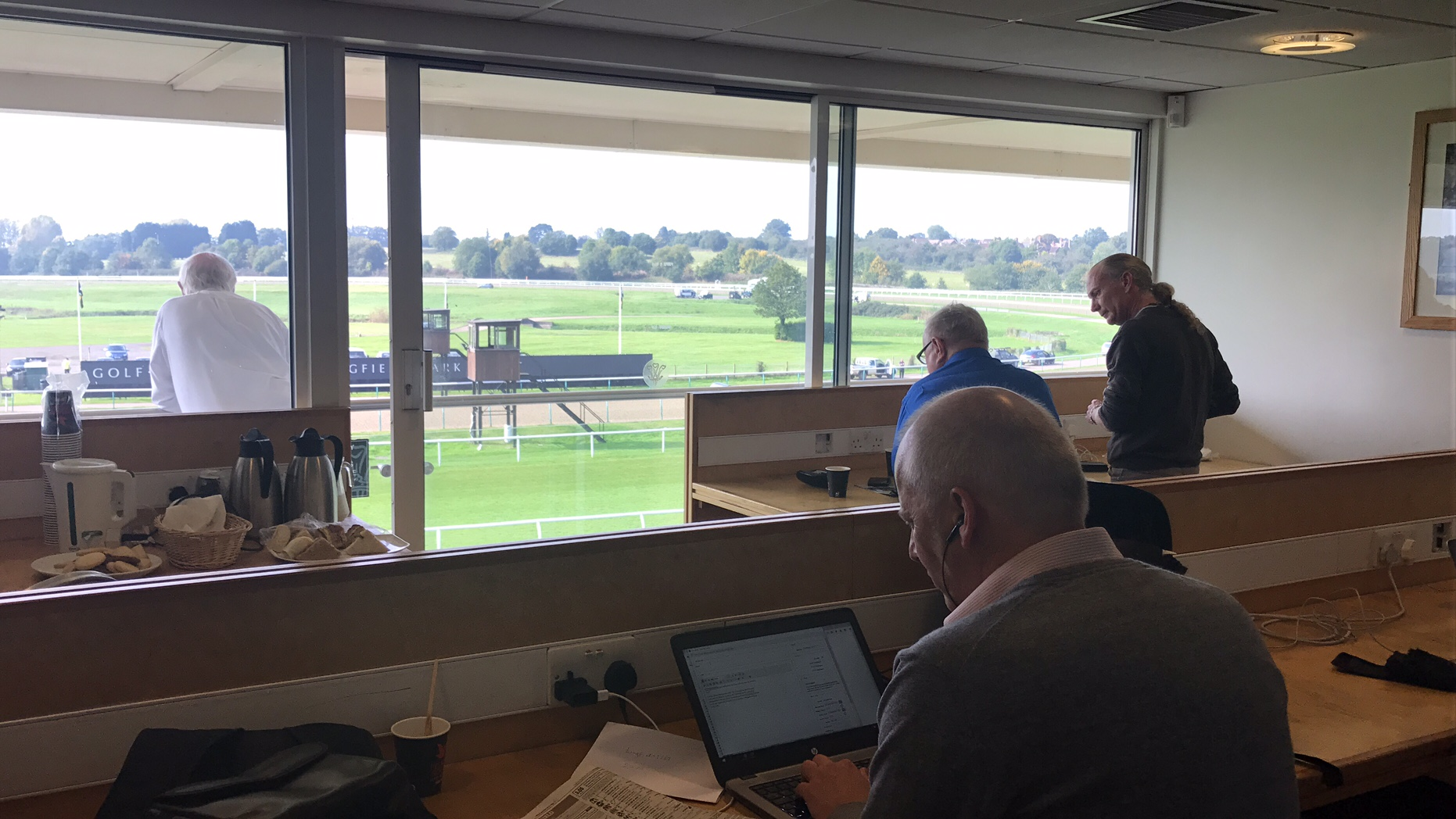 Inside the press box at Lingfield