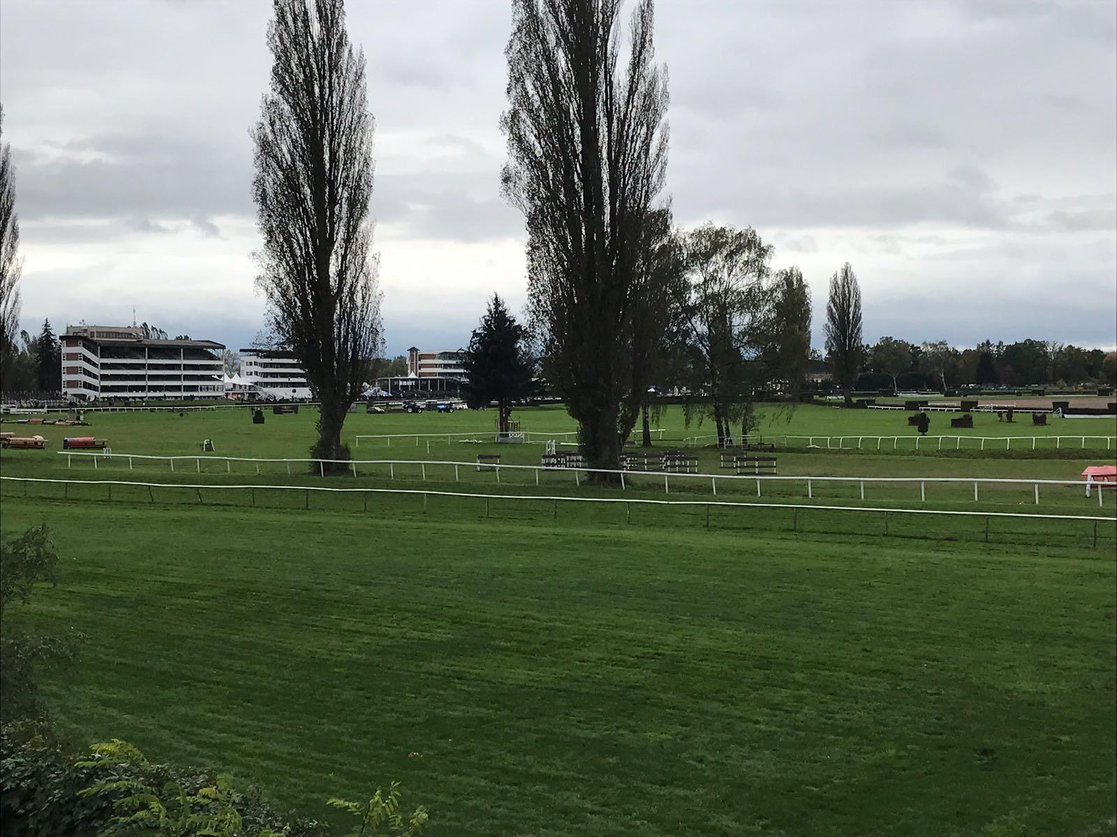 The view as you walk towards the racecourse